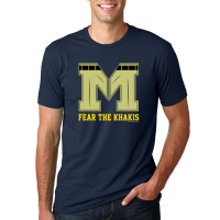 Motor City Bad Boys Midnight Navy Fear the Khakis Logo Premium Fitted Crew