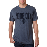 Motor City Bad Boys Indigo Tri-Blend Crew