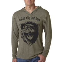 Motor City Bad Boys Venetian Grey Tri-Blend Long Sleeve Hoodie Tee