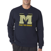 Motor City Bad Boys Navy Fear The Khakis Logo Crew Neck Fleece