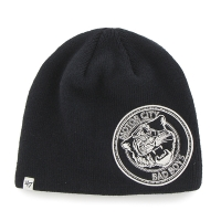Motor City Bad Boys Navy Mammoth Beanie by 47 Brand