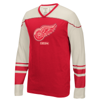 CCM Detroit Red Wings Red Long Sleeve Applique Crew