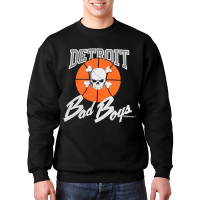 Detroit Bad Boys Black Crewneck Sweatshirt