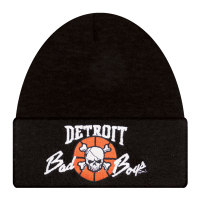 Detroit Bad Boys Black Cuffed Beanie