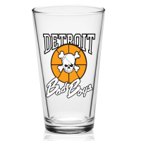 Detroit Bad Boys 16 oz Pint Glass