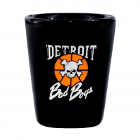Detroit Bad Boys Black Ceramic Shot Glass