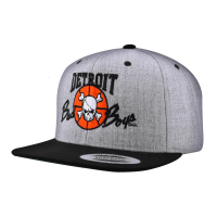 Detroit Bad Boys Heather Gray Snapback Cap
