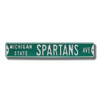 Michigan State Spartans Avenue Metal Street Sign