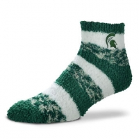 For Bare Feet Michigan State Spartans Team Color Sleep Soft Pro Stripe Sock