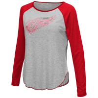 Touch Detroit Red Wings Heather Gray Line Drive Top