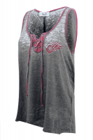 Touch Women's Detroit Red Wings Grey Riley Tank - By Alyssa Milano