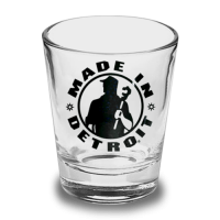 Made In Detroit Black Logo 2 oz. Shot Glass