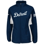 Majestic Detroit Tigers Women's Navy Authentic Collection Double Climate On-Field Jacket