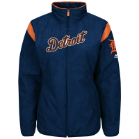 Majestic Detroit Tigers Women's Navy Road Authentic Collection On-Field Premier Jacket