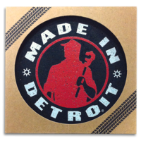 Made In Detroit Black w/ Red Coaster Set