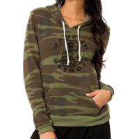 Made In Detroit Women's Camo Long Sleeve Hoodie Tee