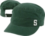 New Era Women's Michigan State University Spartans Green Team Military Cap