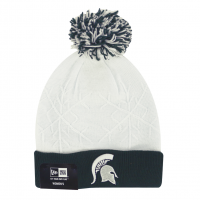 New Era Women's Michigan State Spartans Snow Crown Knit Cap