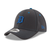 New Era Detroit Tigers 39Thirty Graphite 2016 Father's Day Stretch Fit Cap