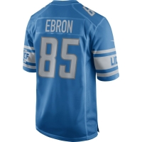 Nike Detroit Lions Blue Eric Ebron 2017 Game Jersey
