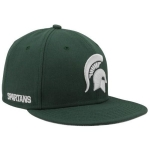 Nike Men's Michigan State University Spartans Green Players True Snapback Cap