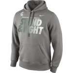 Nike Men's Michigan State Spartans Charcoal Grey 2014 Rose Bowl Champions Locker Room Hoodie