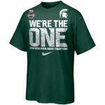 Nike Men's Michigan State University Spartans Green 2014 Rose Bowl Champions Celebration We're The One Tee