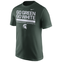 Nike Michigan State Spartans Green Local Verbiage Cotton Tee