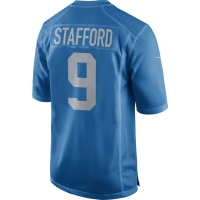 Nike Detroit Lions Blue Matthew Stafford 2017 Throwback Game Jersey