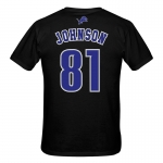 Detroit Lions Child Black Calvin Johnson Player Name and Number Tee