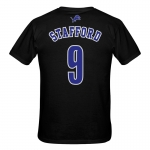 Detroit Lions Child Black Matthew Stafford Player Name and Number Tee