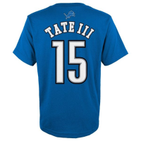 Detroit Lions Blue Golden Tate Mainliner Name & Number Tee