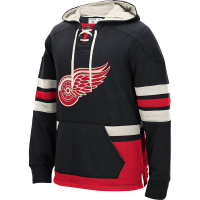 CCM Detroit Red Wings Youth Black Retro Skate Pullover Hood