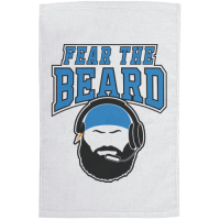 Motor City Bad Boys White Fear The Beard Rally Towel