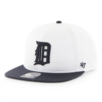 47 Brand Detroit Tigers White Sure Shot Two Tone Snapback Cap