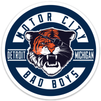 Motor City Bad Boys Detroit Michigan Tiger Vinyl Decal