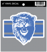 Motor City Bad Boys Lion w/ Patch Vinyl Decal