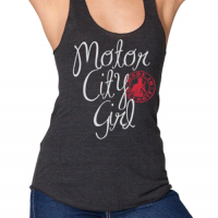 Made In Detroit Women's Black Motor City Girl Tri-Blend Racer Back Tank