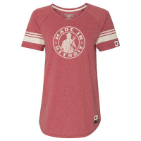 Made In Detroit Women's Red Heather Champion Tee