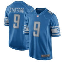 Nike Detroit Lions Youth Blue Matthew Stafford 2017 Game Jersey