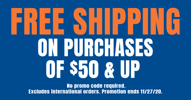 Free Shipping now until Friday!