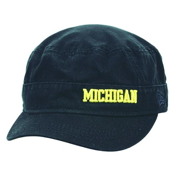 New Era Women s University of Michigan Wolverines Navy Team Military Cap 9f3bf12bb
