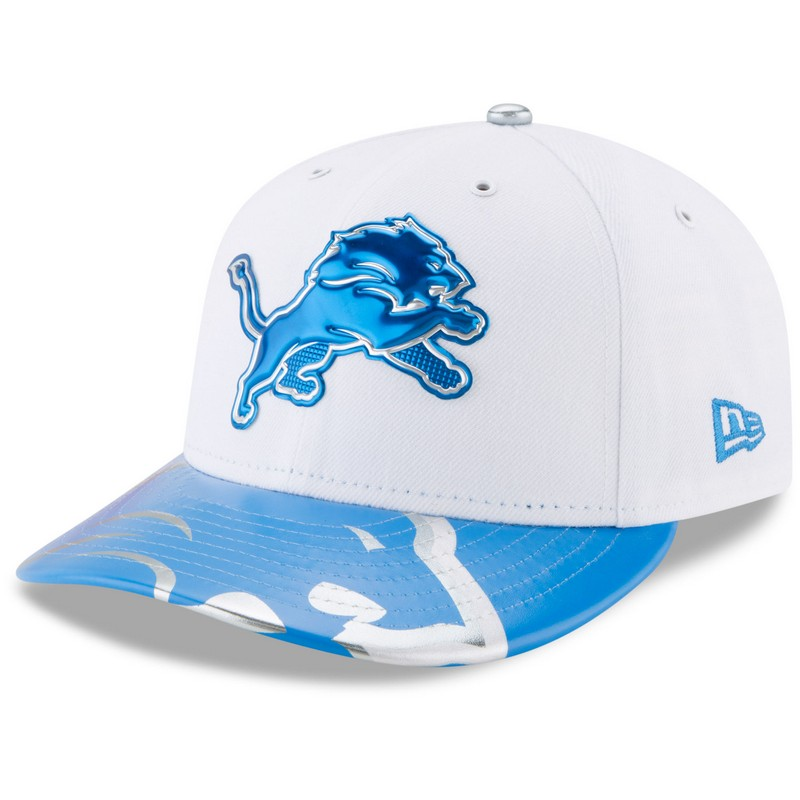 the best attitude b190f d1fc9 New Era Detroit Lions White 59Fifty Low Profile 2017 Draft Day Spotlight  Fitted Cap