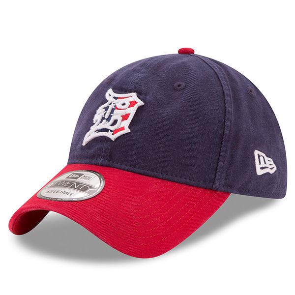 buy popular 2b3e6 b6233 New Era Detroit Tigers Women s Navy 9Twenty 2017 Stars  Stripes July 4th  Adjustable Cap