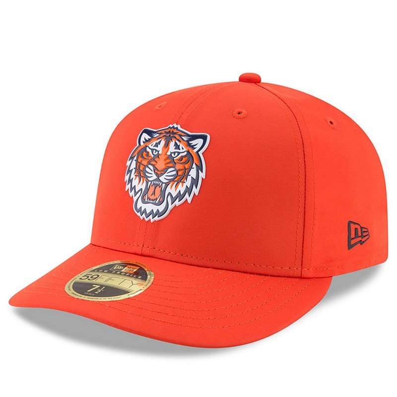 New Era Detroit Tigers Orange 59Fifty Low Crown On-Field Prolight Batting  Practice Fitted Cap a4a840a6954