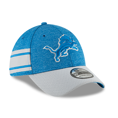 1eecd092080 New Era Detroit Lions Home Blue 39Thirty 2018 Sideline Cap