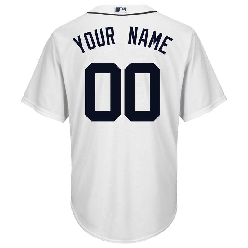 finest selection 59720 7f33b Majestic Detroit Tigers Personalized Cool Base Home Jersey