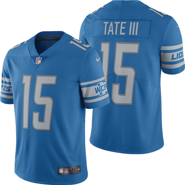 Discount Nike Detroit Lions Blue Golden Tate III Limited Jersey  hot sale