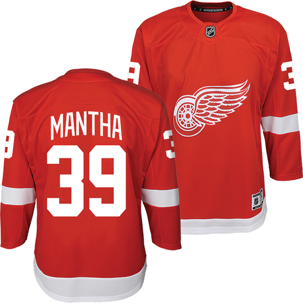 outlet store b4506 be41a Detroit Red Wings Youth Red Anthony Mantha Replica Jersey