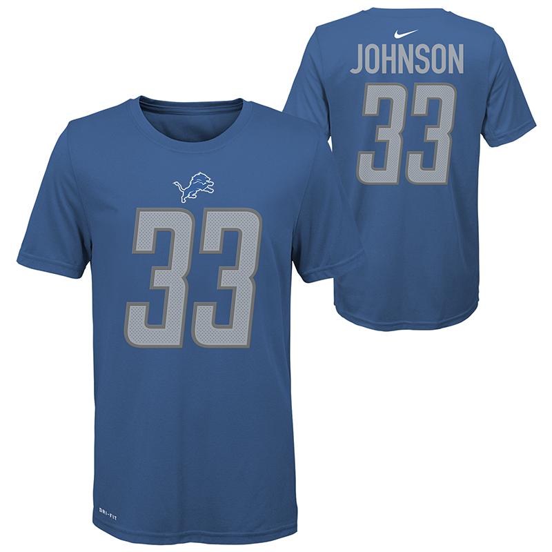 the best attitude e9ad1 2bfb3 Nike Detroit Lions Youth Blue Kerryon Johnson Player Pride ...
